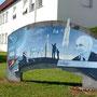 Collège Hubert Curien - Cornimont (88) - Acrylique sur support béton - 3,00 m x 1,50 m - 2007