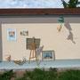 Trompe-l'oeil abri bus - Travexin, Cornimont (88) - 2013<br><br>trompe l'oeil . fresque . mur peint . abri de bus . vosges
