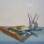 Trompe-l'oeil abri bus (détail) - Acrylique sur façade - Travexin, Cornimont (88) - 2013<br><br>trompe l'oeil . fresque . mur peint . abri de bus . vosges
