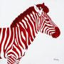 Zèbre - Acrylique sur bois - Polyptique - 50 x 50 cm <br><br>Peinture . peintre animalier . artiste peintre . peinture animalière . animal . peinture bicolore