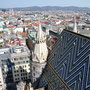 View of Vienna, including the roof of Stephansdom.