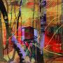Forstsitz, 97x130 cm, 2014 Acryl/Leinwand