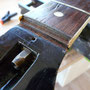 Je recrée une surface plate pour faire une greffe de palissandre.