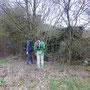 Ronald en Marcel bij een bunker