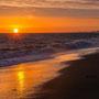 Gilles Le Gall : Coucher de soleil  plage St Hilaire