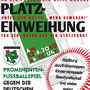 Plakat Kunstrasenplatzeinweihung