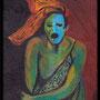 """""""Pauvre petit diable triste"""", acrylique sur mini toile 22x14"""