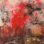 2014, Vera Loos, Das Atelier ist zwischen den Menschen, Mischtechnik auf Leinwand, 60 x 60 cm (24'' x 24'')