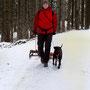 Rodeln mit unserem Schlittenhund :-)