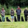 Me und Ivy, Simone mit Grace und Sally, Kathrin mit Molly, Micha mit Iona, Silvia mit Bee und hinter der Linse Christoph mit Shady