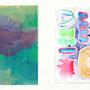 """"""" no Title """" 24,5 x 17,5 cm, 24 x 16 cm, Acryl auf Papier, 2017"""