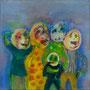 Super Family    2012 , canvas , aquarell , 40 x 40 cm