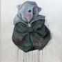 """Omote""  2014, Aquarell, Acryl, Ink, colorpencil, Paper, 190 x 150 cm"