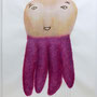 """Nanika""  2014, Aquarell, Acryl, Ink, colorpencil, Paper, 190 x 150 cm"