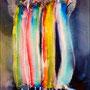 Four   2012 , canvas , aquarell , 40 x 30 x 4 cm