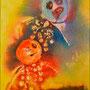 Two   2012 , canvas , aquarell , 40 x 30 x 4 cm