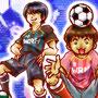 ウーマンラッシュアワーとサッカー<br><small>サッカーのユニフォームはカッコイイね。デザインとか色々見て、チョイスに迷った。もちろん、野球のユニフォームや道具一式は、何も見なくても描けるぜ!!(笑)</small>