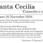 Festa di Santa Cecilia 2016, 26 novembre