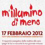 M'illumino di Meno 17 febbraio 2012