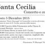 Festa di Santa Cecilia 2015, 5 dicembre
