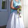 Brautkleid mit Farbakzenten