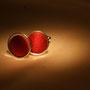 Manschettenknöpfe aus roter Seide