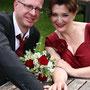 Rotes, drappiertes Brautkleid aus Orissa-Seide