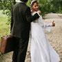 Unkonventionelles sommerliches Brautkleid