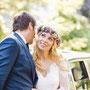 Romantisches Brautkleid aus Seidenchiffon und edler Baumwollspitze © Fotos: Katrin Andrzejewski