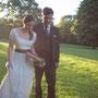 Romantisches Brautkleid aus Seidentaft und Seidenchiffon mit zarter, französischer Spitze