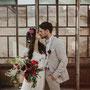 zartes Brautkleid aus edlem Seidenchiffon und Guipure-Spitze