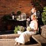 Brautkleid aus drapiertem Seiden-Taft mit eingearbeiteter Korsage