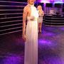 Weißes Seidenkleid für Nicole Kidman