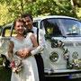 Brautkleid, Rock gefertigt aus dem Brautkleid der Oma, Oberteil aus gefälteltem Seiden-Georgette und Spitzenborte