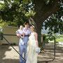 Brautkleid aus champagnerfarbenem Seidenchiffon