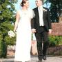 Drapiertes Brautkleid aus luftig leichtem Seidenchiffon