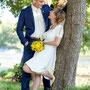 kurzes, süßes Brautkleid aus Seidencrépe und Stretch-Seidensatin mit aufgenähter Spitze