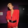 Rihanna im tief ausgeschnittenem Abendkleid bei Madame Tussauds Wien