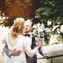 Brautkleid aus edler Baumwollspitze und Seide