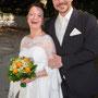 Süßes Brautkleid aus Seidentaft mit feiner Spitze