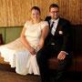 Hochzeitskleid, maßgefertigt aus cremefarbener Seide
