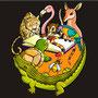 """Ilustración de tapa para """"Cuentos de la selva"""" de  Horacio Quiroga"""