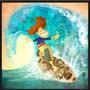"""Ilustración para el cuento """"Escuela de Surf""""- © GIO Fornieles"""