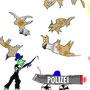 Die Polizei schießt mit Schafe-Munition - by Don12