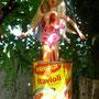 Ketchup-Nixe in Ravioli