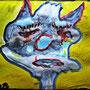 Ebola - Flüssigseife/Aquarellfarbe/Acryl auf Papier - 30 x 40 cm - by Don14