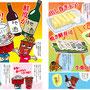 『蕎麦人・弁慶』店内メニューまんが挿絵/トマック