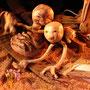 Deux de nos marionnettes - Photo de Sébastien Fernandez (captation sur Viméo)