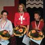 Damen (v.l.n.r.): Monika Widmer (2.), Marianne Balmer (1.) und Monika Farner (3.).