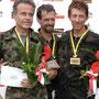 Bruno Lussi (links) und Godi Schmutz (rechts) feierten ihren ersten Podestplatz, Gerhard Klarer gar seinen ersten Kategoriensieg (M50).